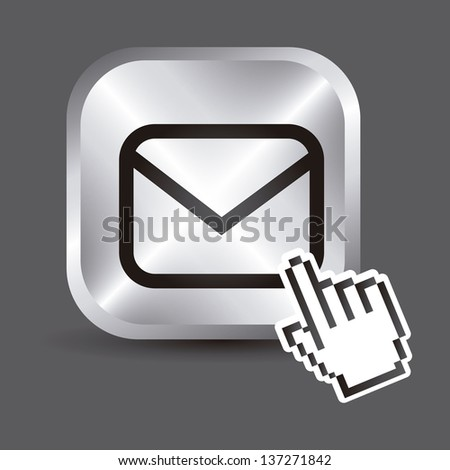 envelope icons over gray background. vector illustration - stock vector