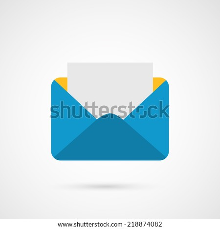 Envelope Mail. E-mail vector icon. - stock vector