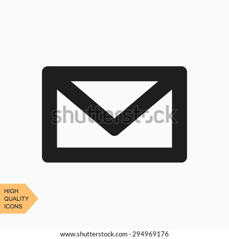 envelope, mail, e-mail vector icon on white background. flat design - stock vector