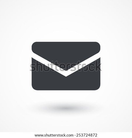 Envelope Mail icon, vector illustration in flat style  - stock vector