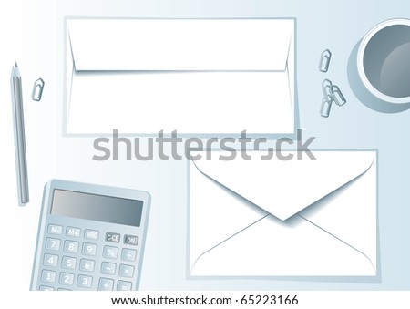 Envelope presentation format - layout template - easy to modify, in vector file each element in different layer. - stock vector