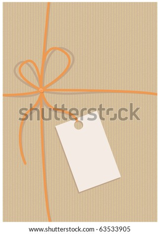Envelope, recycled paper, empty label, vector