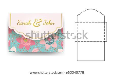 25 new wedding invitation postcard vector pictures wedding card wedding invitation postcard vector best of envelope wedding invitation template flower pattern stock vector stopboris Choice Image