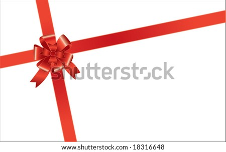 Envelope with a bow
