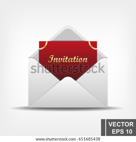 Envelope invitation letter realistic vector illustration stock envelope with an invitation letter realistic vector illustration stopboris Image collections