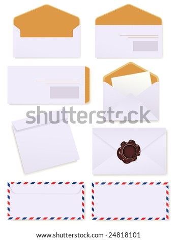 Envelopes, vector illustration, EPS files included