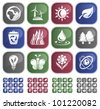Environment button set - stock vector