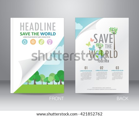 Environment ecology brochure flyer design layout stock for Environment brochure template
