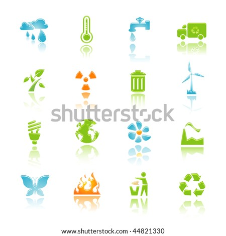 environment icon set for web and internet - stock vector