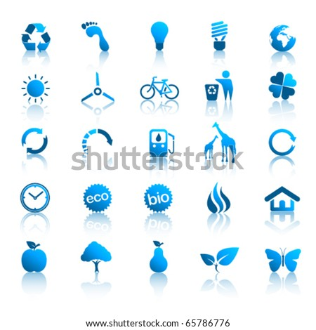 Environment icons set 2 - stock vector