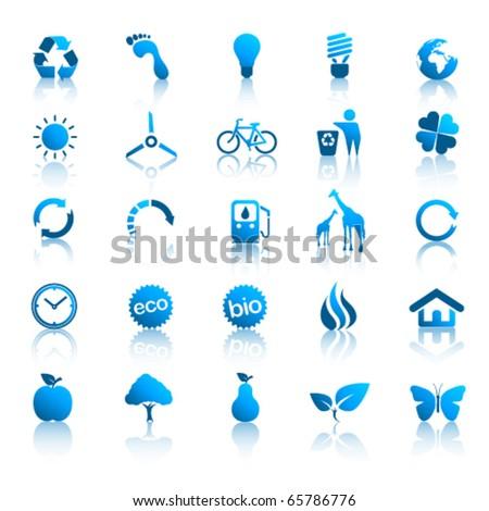 Environment icons set 2 - stock vector