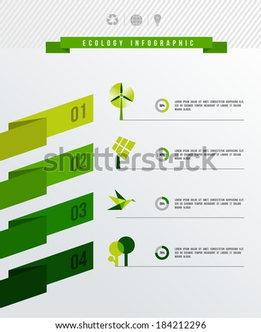 Environment info graphic design layout. EPS10 vector file organized in layers for easy editing. - stock vector