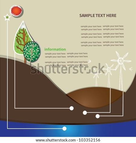Environment info graphics ,Vector - stock vector