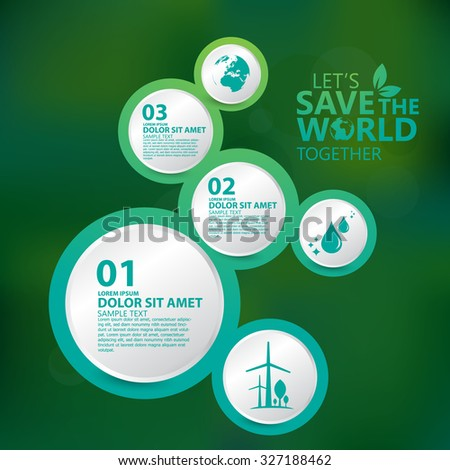 environment infographic - stock vector