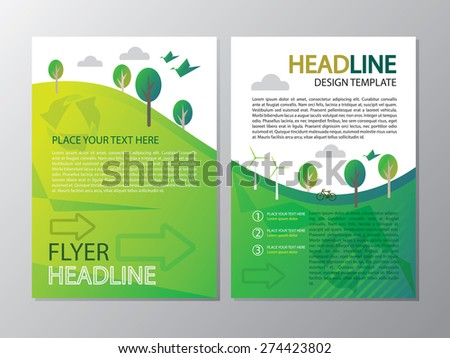 Environment of flyer headline template design for A4 paper size
