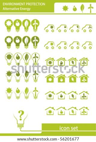 Environment protection. Alternative energy. - stock vector