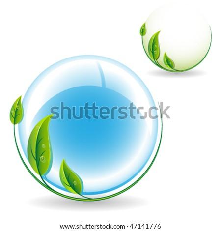 Environment protection icon. Vector illustration - stock vector