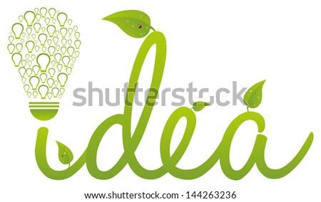 Environment Saving Idea - stock vector