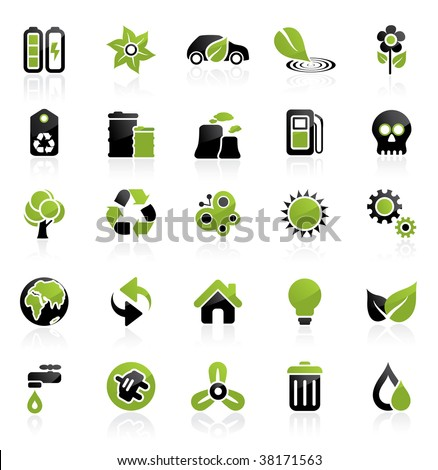 Environment vector icon set. Easy to edit. Ecology collection. - stock vector