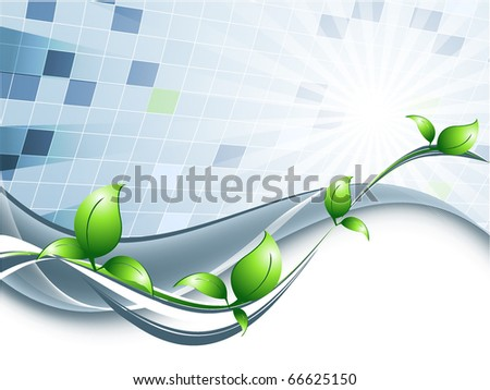 environmental abstract background with leaves and copy space. Eps10 - stock vector