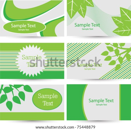 Environmental business card stock vector 75448879 shutterstock environmental business card colourmoves Images