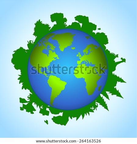 Environmental concept of earth - stock vector