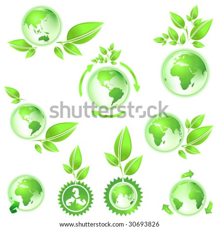 environmental conservation symbol planet earth - stock vector
