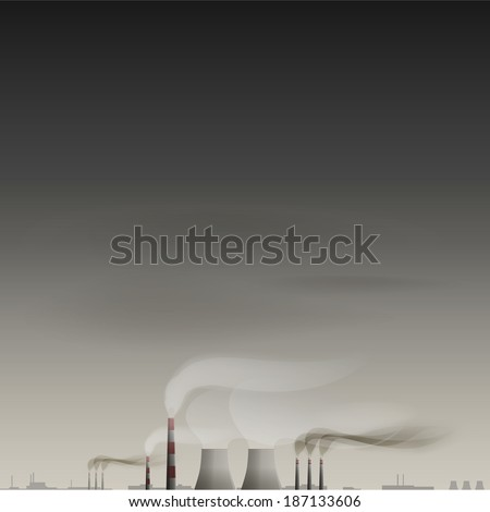 Environmental contamination vector background - stock vector