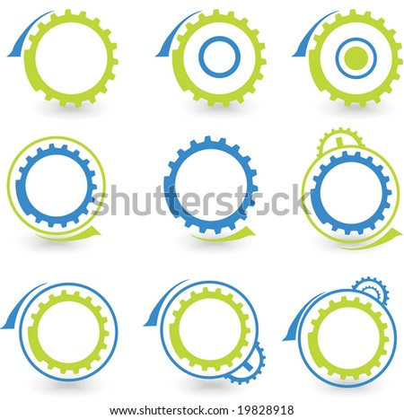 environmental gear vector set - stock vector