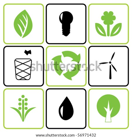Environmental icon set. Vector illustration