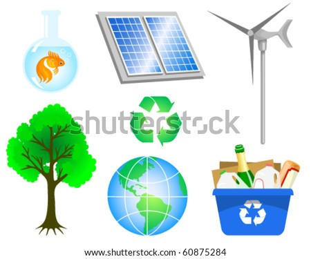 Environmental icons - stock vector