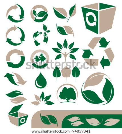 Environmental icons set - stock vector