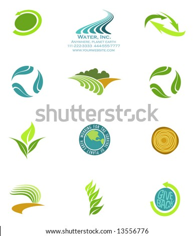 environmental logos 2 - stock vector