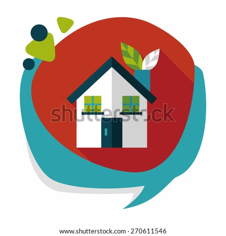 Environmental protection concept flat icon with long shadow,eps10; greenhouses; green house