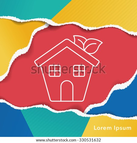 Environmental protection concept greenhouses line icon - stock vector