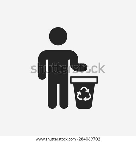 Environmental protection concept recycled garbage icon