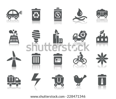 Environmental Protection Icons - stock vector