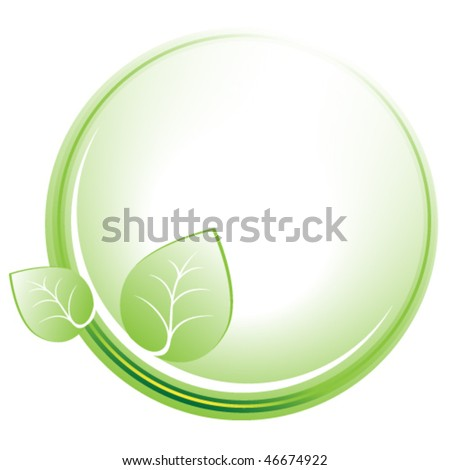 Environmental protection symbol. Vector illustration - stock vector