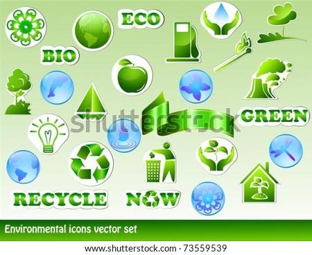 Environmental set - stock vector