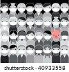 Epidemic. Swine flu concept - stock vector