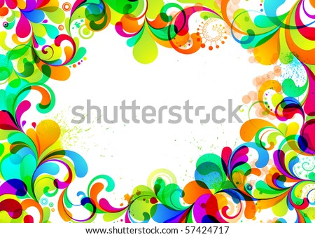 EPS10. A4 format. Fully editable background. - stock vector
