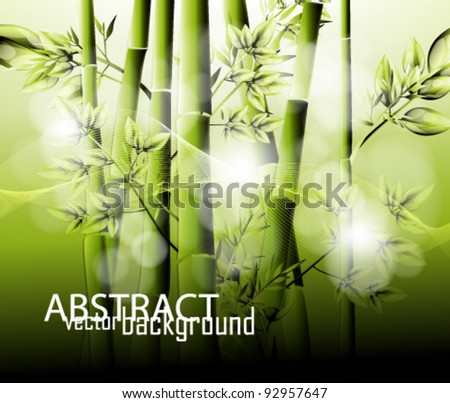 eps10 abstract bamboo spring background - stock vector