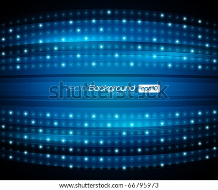 EPS10 Abstract Blue Lights Vector Backround - stock vector