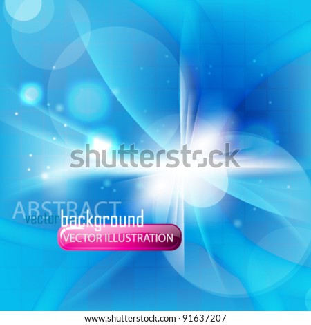 eps10 abstract blue ray light design - stock vector