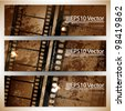 eps10 abstract cinema banner set - stock photo