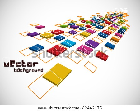 eps10 abstract 3d mosaic ,vector illustration - stock vector