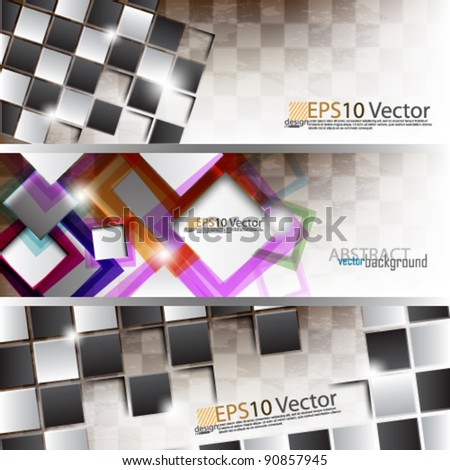 eps10 abstract modern website banner concept design - stock vector