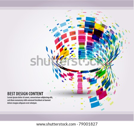 eps10 abstract mosaic vector illustration - stock vector