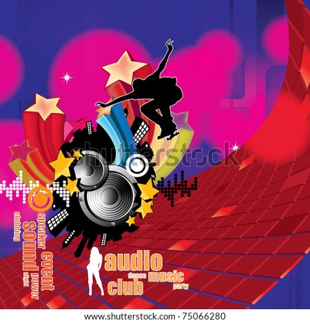 EPS10 abstract music background. - stock vector
