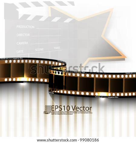 eps10 abstract vector cinematography background design - stock vector